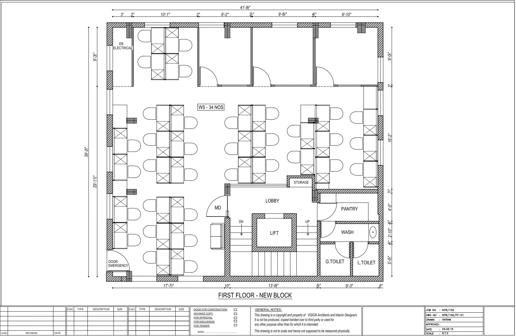FIRST FLOOR PLAN - GUINDY